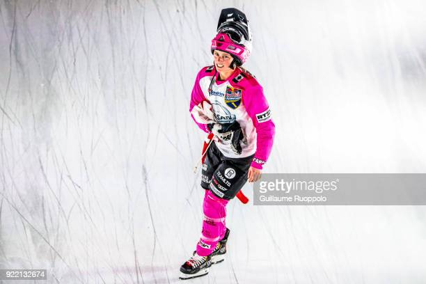 Jacqueline Legere during the Red Bull Crashed Ice Marseille 2018 on February 17 2018 in Marseille France