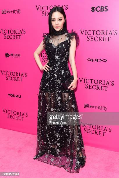Jacqueline Li attends 2017 Victoria's Secret Fashion Show In Shanghai Pink Carpet Arrivals at MercedesBenz Arena on November 20 2017 in Shanghai China