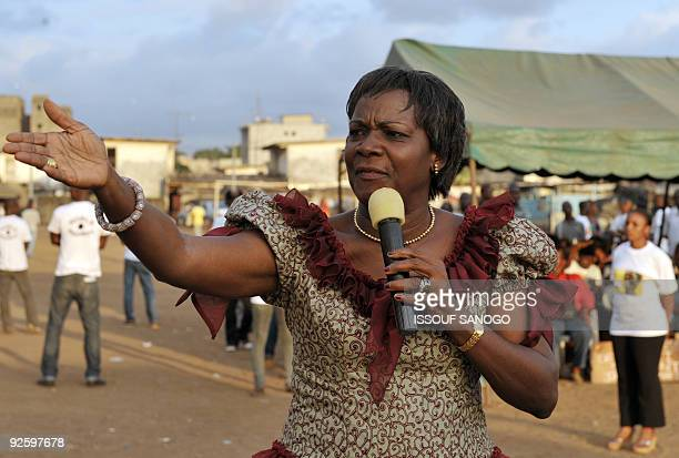 Jacqueline Lohoues Oble former Ivorian Justice Minister of Ivory Coast's first President Felix HouphouetBoigny and the first female candidate of an...