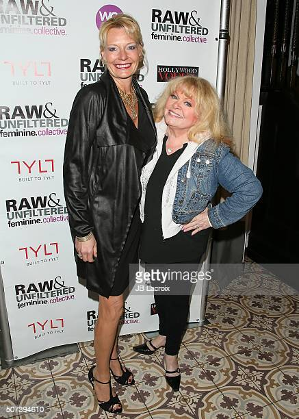 Jacqueline Lundquist and Sally Struthers attend the 'Feminine Collective Raw And Unfiltered' Vol 1 launch party at Palihouse on January 28 2016 in...
