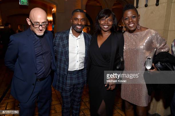 Jacqueline Lyanga and Angie Wells attend the screening of Netflix's 'Mudbound' at the Opening Night Gala of AFI FEST 2017 Presented By Audi at...