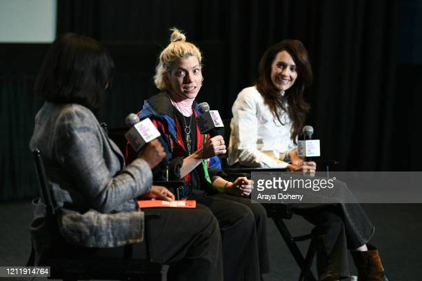 "Jacqueline Lyanga, Bridget Savage Cole and Danielle Krudy at Film Independent screening series presents ""Blow The Man Down"" at ArcLight Hollywood on..."