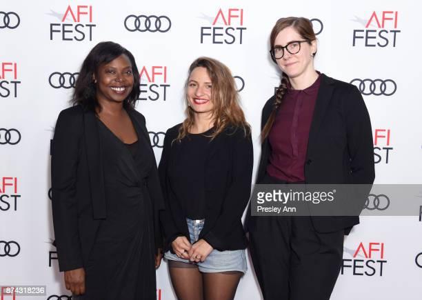 Jacqueline Lyanga Lea Mysius and Senior Film Programmer for AFI FEST Jenn Murphy attend 'Festival Filmmaker Photo Call' at AFI FEST 2017 Presented By...