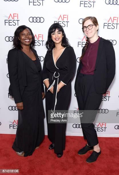 Jacqueline Lyanga Mariam Al Ferjani and Senior Film Programmer for AFI FEST Jenn Murphy attend 'Festival Filmmaker Photo Call' at AFI FEST 2017...