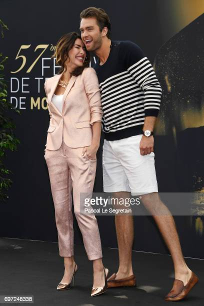 Jacqueline MacInnes Wood and Pierson Fode from 'The bold and the beautiful' attend a photocall during the 57th Monte Carlo TV Festival Day 3 on June...