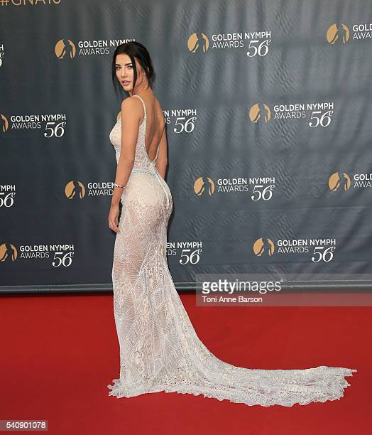 Jacqueline MacInnes Wood arrives at the 56th Monte Carlo TV Festival Closing Ceremony and Golden Nymph Award at The Grimaldi Forum on June 16 2016 in...