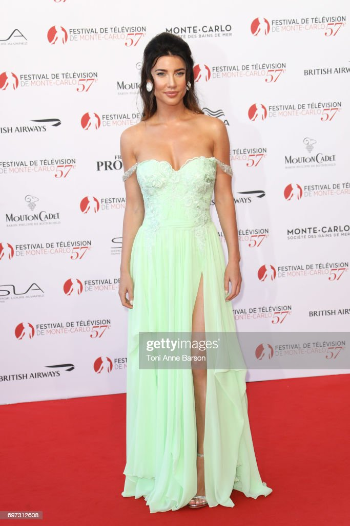 Jacqueline MacInnes Wood arrives at the Opening Ceremony of the 57th Monte Carlo TV Festival and World premier of Absentia Serie on June 16, 2017 in Monte-Carlo, Monaco.