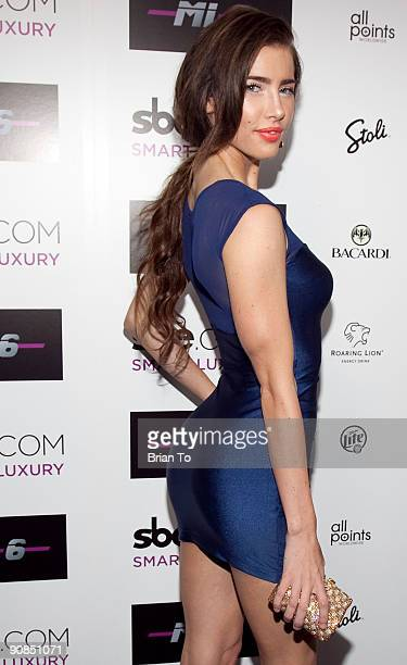 Jacqueline MacInnes Wood attends Mi6 Nightclub Grand Opening Party on September 15 2009 in West Hollywood California