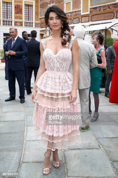 Jacqueline MacInnes Wood attends the cocktail party of the 57th Monte Carlo TV Festival at the Monaco Palace on June 18 2017 in MonteCarlo Monaco