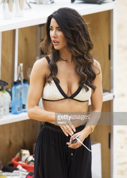 Jacqueline MacInnes Wood is seen filiming Bold and the Beautiful on February 15 2017 in Sydney Australia