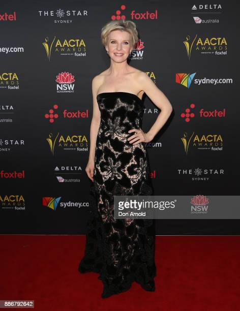 Jacqueline MacKenzie posesduring the 7th AACTA Awards at The Star on December 6 2017 in Sydney Australia