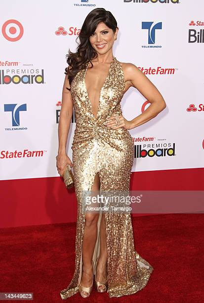 Jacqueline Marquez arrives at Billboard Latin Music Awards 2012 at Bank United Center on April 26 2012 in Miami Florida