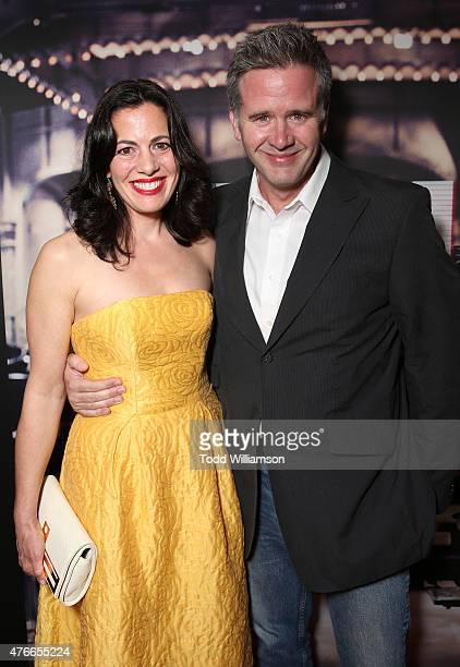 Jacqueline Mazarella and guest attend the premiere Of Abramorama's Live From New York Red Carpet at Landmark Theatre on June 10 2015 in Los Angeles...