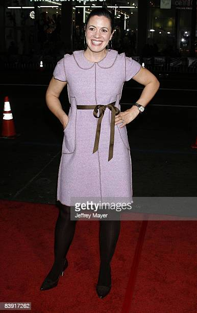 Jacqueline Mazarella arrives at the Los Angeles premiere Nothing Like The Holidays at the Grauman's Chinese Theater on December 3 2008 in Hollywood...