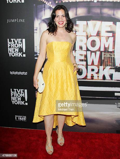 Jacqueline Mazarella arrives at the Los Angeles premiere of Abramorama's Live From New York held at Landmark Theatre on June 10 2015 in Los Angeles...