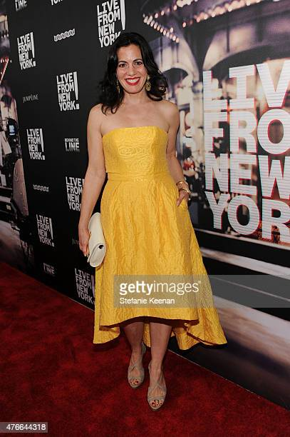 Jacqueline Mazarella attends the Live From New York Los Angeles premiere at Landmark Theatre on June 10 2015 in Los Angeles California