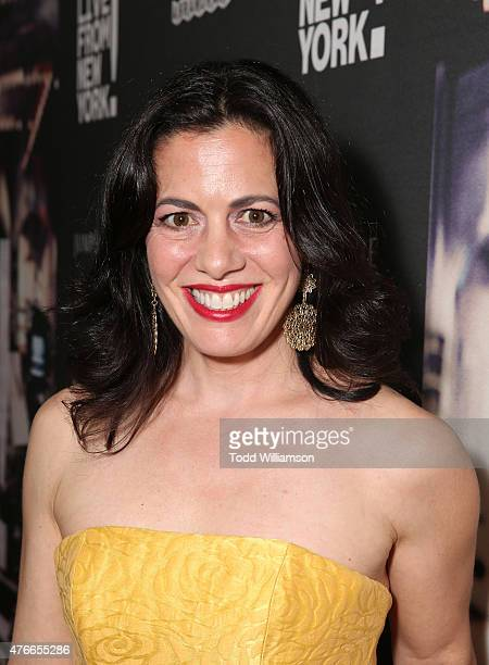 Jacqueline Mazarella attends the premiere Of Abramorama's Live From New York Red Carpet at Landmark Theatre on June 10 2015 in Los Angeles California