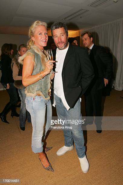 Jacqueline Meyer-Burckhardt and designer Philippe Starck at The Housewarming Party With Philippe_Starck Yoo In-Showroom Sandtorkai 60 in Hamburg.