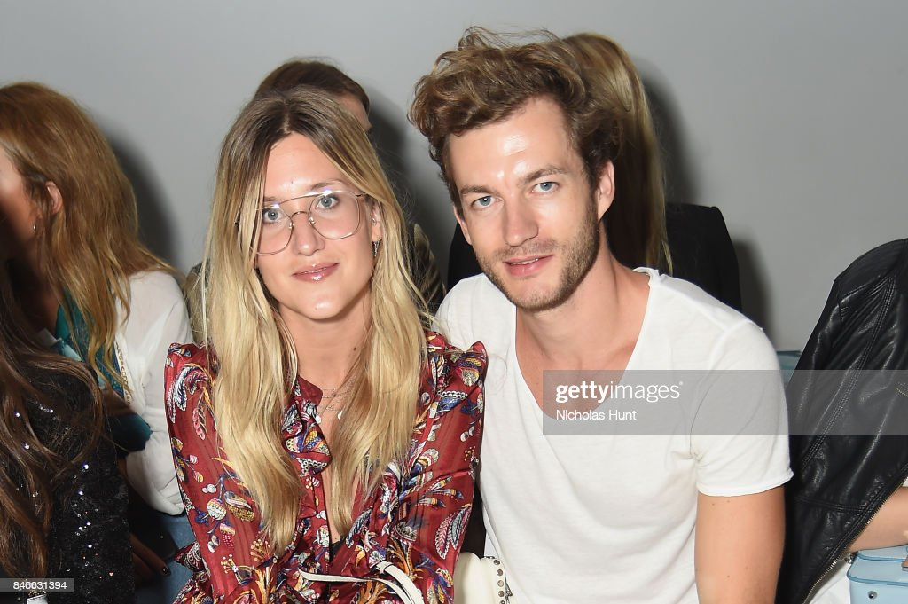 Jacqueline Mikuta and Klemens White attend the Marcel Ostertag fashion show during New York Fashion Week: The Shows at Gallery 3, Skylight Clarkson Sq on September 13, 2017 in New York City.