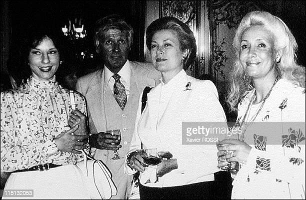 Jacqueline Monsigny Grace de Monaco my friend in Paris France on June 14 2002 Left to right Denise Fabre Jaqueline Monsigny's husband Grace and...