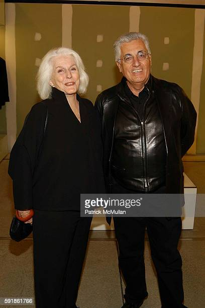 Jacqueline Murray and Germano Celant attend 'Spring in a Small Town' Screening at Prada Broadway at Prada Broadway on October 20 2005 in New York City
