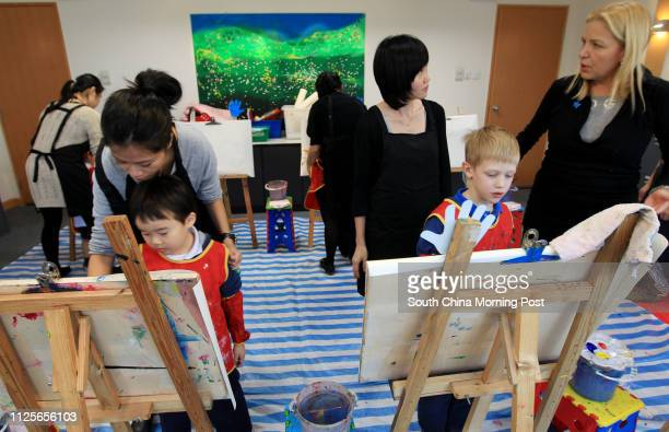 Jacqueline Nilsen's music and art workshop for autistic kids at the Children Institute of Hong Kong in Kennedy Town 24NOV11