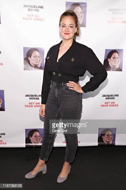 "Jacqueline Novak attends the opening night of ""Jacqueline Novak: Get on Your Knees"" at Cherry Lane Theatre on July 22, 2019 in New York City."