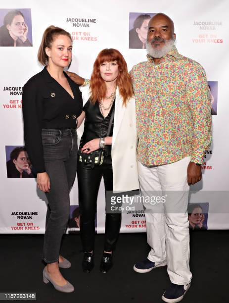 Jacqueline Novak Natasha Lyonne and David Alan Grier attend the opening night of Jacqueline Novak Get on Your Knees at Cherry Lane Theatre on July 22...