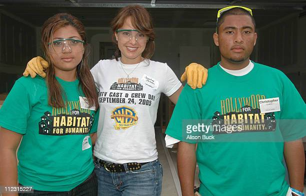 Jacqueline Obradors and Partner Family during WBTV Stars Help Hollywood for Habitat for Humanity Commemorate Its Fifth Anniversary in Los Angeles...