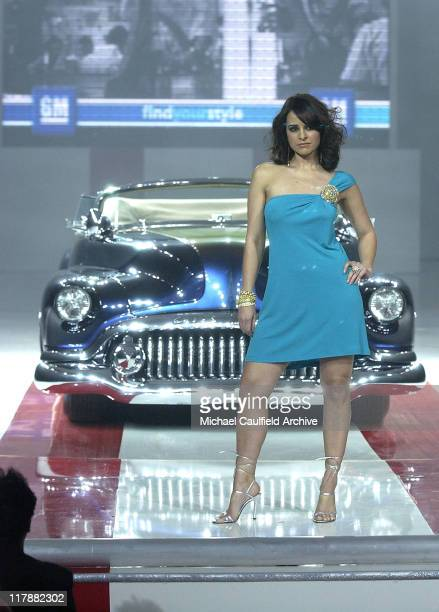 Jacqueline Obradors with custom 1952 Buick during TEN GM Rocks Award Season With Cars Stars and Fashion Show at Sunset and Vine in Hollywood...