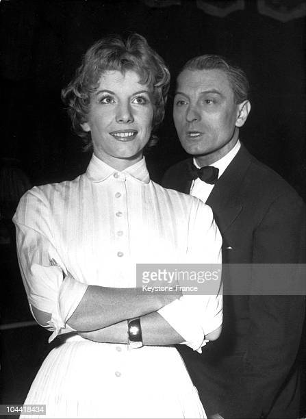Jacqueline Pagnol And Georges Rollin In 1954