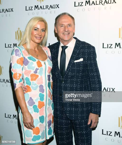 Jacqueline Pojer and her husband Karl Pojer during the Liz Malraux Fashion Show Autumn/Winter 201718 at Hotel Atlantic on August 3 2017 in Hamburg...