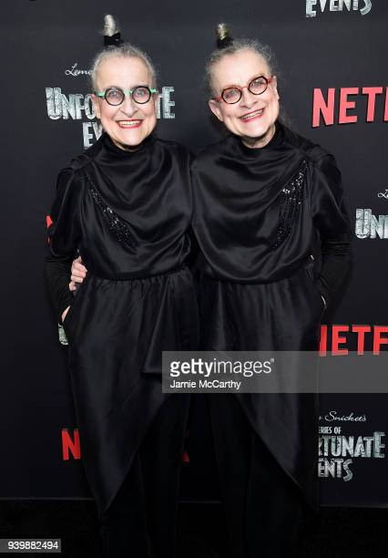 Jacqueline Robbins and Joyce Robbins attend the 'A Series Of Unfortunate Events' Season 2 Premiere at Metrograph on March 29 2018 in New York City