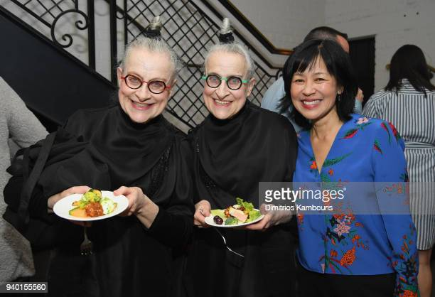 Jacqueline Robbins Joyce Robbins and Rose Lam attend the Netflix Premiere of 'A Series of Unfortunate Events' Season 2 on March 29 2018 in New York...