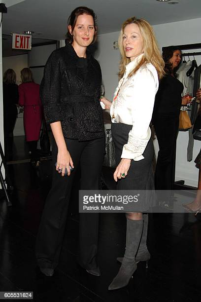Jacqueline Sackler and Roberta Amon attend Valentino Donna PreHiver 2006 Defile at Valentino Showroom on January 26 2006 in New York City