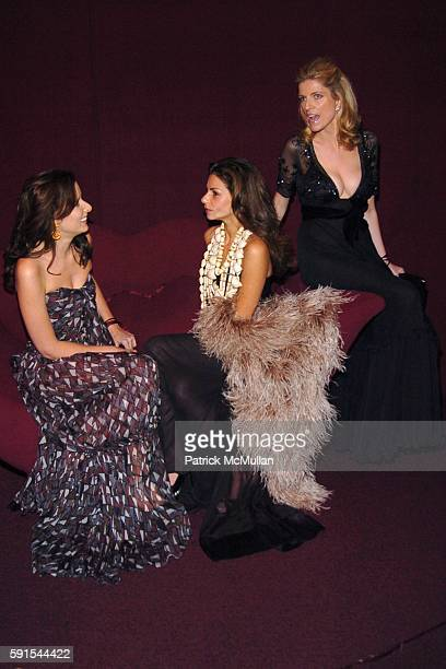 Jacqueline Sackler Eva Lorenzotti Lucy Sykes Rellie and All wearing Yves Saint Laurent attend The 3rd Annual GUGGENHEIM ARTIST BALL Sponsored by YVES...