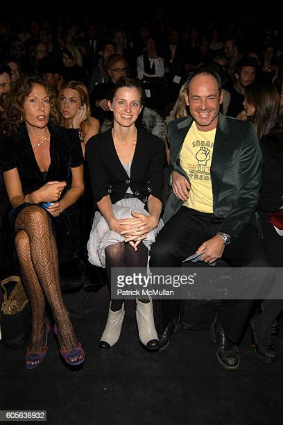 Jacqueline Schnabel, Amanda Cutter Brooks and Chris Brooks attend Vera Wang Fall 2006 Fashion Show at The Tent at Bryant Park on February 9, 2006 in...