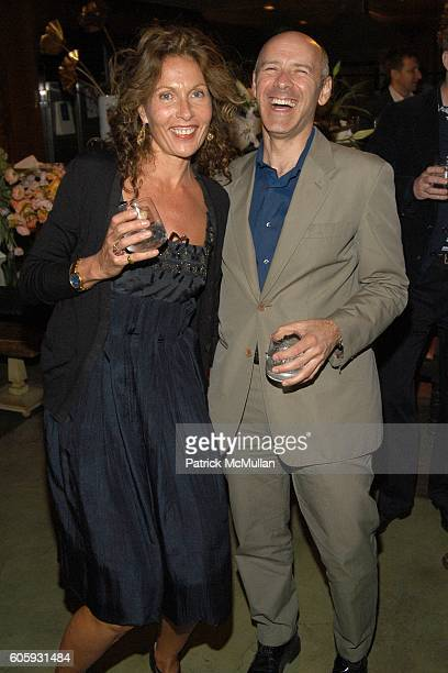 Jacqueline Schnabel and David Kuhn attend MARNI Dinner for Consuelo Castiglioni at The Home of Jacqueline Schnabel on April 29 2006 in New York City