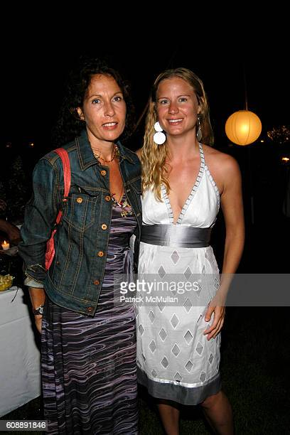 Jacqueline Schnabel and Deborah Schoeneman attend Michael Hirtenstein and Hampton Style Host Dinner With Stan Perelman for One York at Bridgehampton...