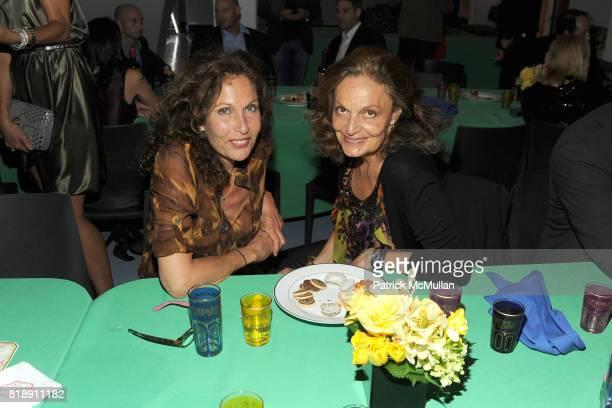 Jacqueline Schnabel and Diane von Furstenberg attend DIANE VON FURSTENBERG Dinner In Honor Of CARLOS JEREISSATI at DVF Studios on May 18 2010 in New...