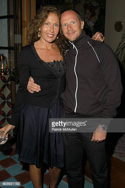 Jacqueline Schnabel and Josh Jordan attend MARNI Dinner for Consuelo Castiglioni at The Home of Jacqueline Schnabel on April 29, 2006 in New York...
