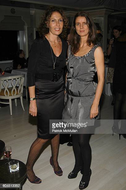 Jacqueline Schnabel and Karla Otto attend Dinner Hosted by Consuelo Castiglioni of MARNI at Bergdorf Goodman on November 15 2006 in New York City
