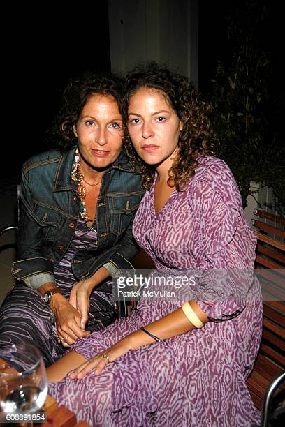 Jacqueline Schnabel and Lola Schnabel attend Michael Hirtenstein and Hampton Style Host Dinner With Stan Perelman for One York at Bridgehampton on...