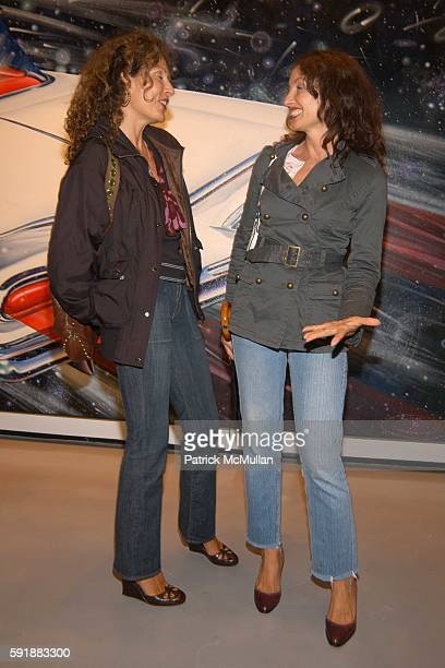 Jacqueline Schnabel and Martine Malle attend SUPERPOP and CLOSET Kenny Scharf Art Show and Dinner at Paul Kasmin Gallery on October 14 2005 in New...