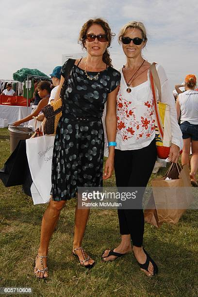 Jacqueline Schnabel and Nadine Johnson attend SUPER SATURDAY 9 hosted by Kelly Ripa Donna Karan and InStyle Magazine To Benefit The Ovarian Cancer...