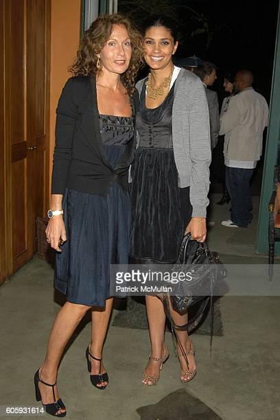 Jacqueline Schnabel and Rachel Roy attend MARNI Dinner for Consuelo Castiglioni at The Home of Jacqueline Schnabel on April 29, 2006 in New York City.