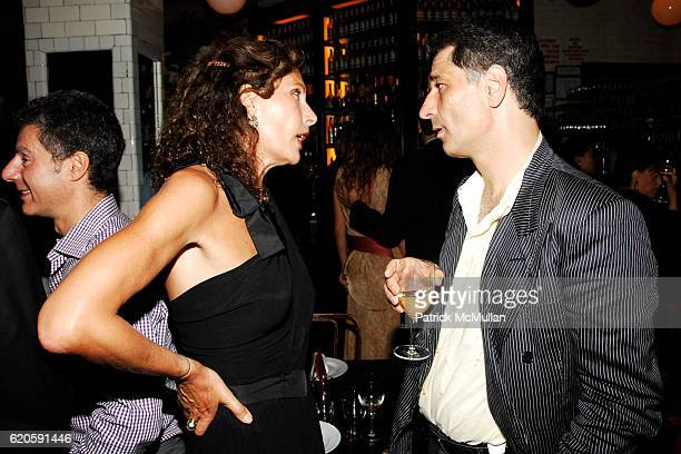 Jacqueline Schnabel and Roland Levin attend Private Dinner hosted by CARLOS JEREISSATI CEO of IGUATEMI at Pastis on September 6 2008 in New York City
