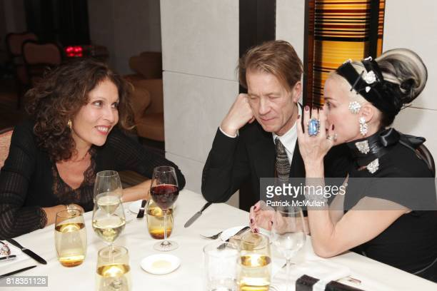 Jacqueline Schnabel, Mattia Bonetti and Daphne Guinness attend CHANEL DINNER IN HONOR OF VANESSA PARADIS FOR ROUGE COCO at the Mark Hotel on February...
