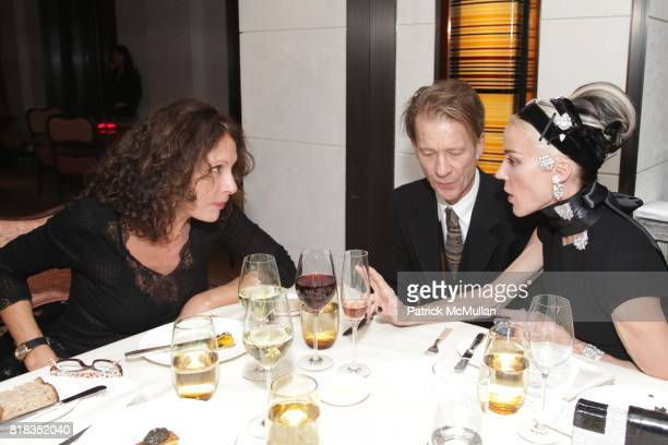 Jacqueline Schnabel Mattia Bonetti and Daphne Guinness attend CHANEL DINNER IN HONOR OF VANESSA PARADIS FOR ROUGE COCO at the Mark Hotel on February...