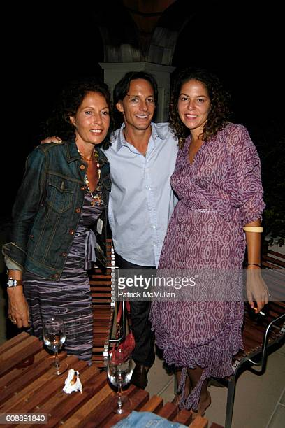 Jacqueline Schnabel, Michael Hirtenstein and Lola Schnabel attend Michael Hirtenstein and Hampton Style Host Dinner With Stan Perelman for One York...